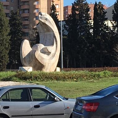 Statue looks like the logo next door