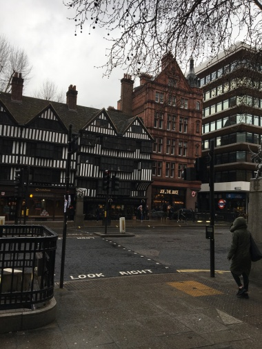 Grey, rainy, empty Holborn