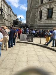 No sign at Churchill's War Rooms