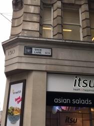 Shoe Lane - it's a sign...