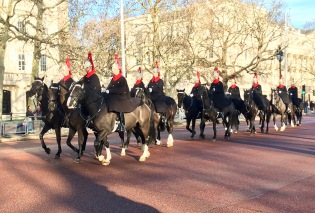Not only did we get soldiers with fluffy hats, we got a Horseguard's Parade too..
